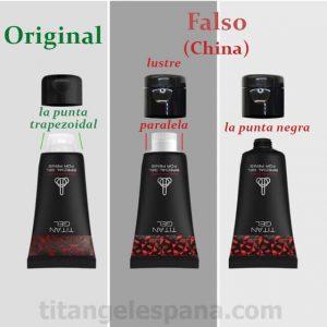 Titan Gel original y falso